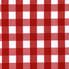 Gingham 1 Inch - Red
