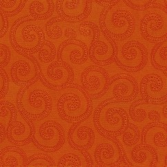 Home Decor Fabrics - Crypton Clematis 44 Pumpkin