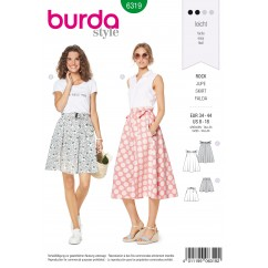 BURDA - 6319 Bell-shaped Skirt – Gathered, with Pockets in Seams