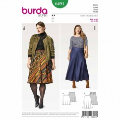 BURDA - 6491 Ladies Skirt - Plus