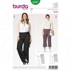 BURDA - 6492 Ladies Pants - Plus