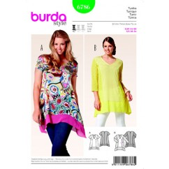 BURDA 6786 Ladies Top-Plus