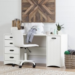 Crea Artwork Sewing-Craft Table - White