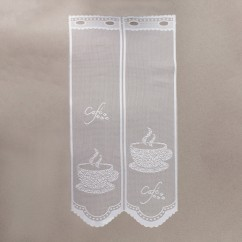 Home Decor Fabric - Café lace - Bistro White