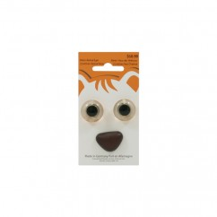 18mm Animal Eyes / 22x15mm Animal Nose - Brown