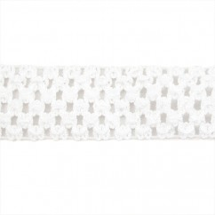 "CROCHET HEADBAND ELASTIC 1,75"" WHITE"