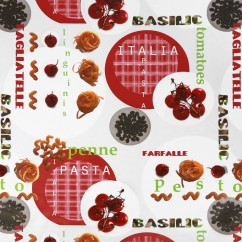Tablecloth Vinyl - Pasta - Multicolour