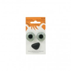 22mm Animal Eyes / 22x15mm Animal Nose - Grey
