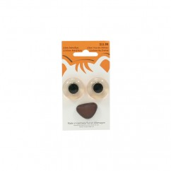 22mm Animal Eyes / 22x15mm Animal Nose - Brown