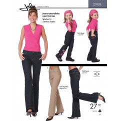 Jalie Pattern 2908 - Women's stretch jeans (low and regular rise)