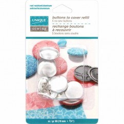 UNIQUE Cover Button Refill  - size 30 / 19mm - 5 sets
