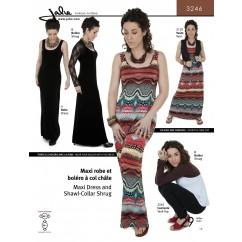 Jalie Pattern 3246 - Maxi dress and shawl collar shrug (arm warmer)