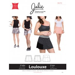 Jalie Pattern 3670 - LOULOUXE Skirt with attached shorts (skort)