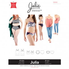Jalie Pattern 3886 - JULIA Camisole, Bralette and Panties