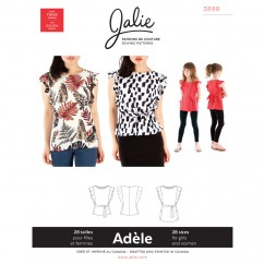 Jalie Pattern 3888 - ADÈLE Flutter Sleeve Top and Tunic
