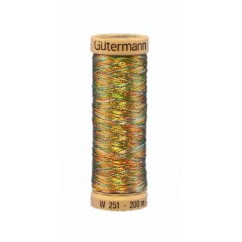 GÜTERMANN Metallic Thread 200m Variegated Blue Sky