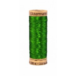 GÜTERMANN Metallic Thread 200m Christmas Green