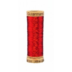 GÜTERMANN Metallic Thread 200m Red