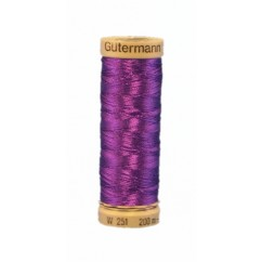 GÜTERMANN Metallic Thread 200m Purple