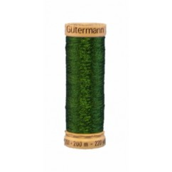 GÜTERMANN Metallic Thread 200m Dark Green