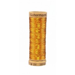 GÜTERMANN Metallic Thread 200m Bronze Gold