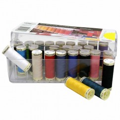 GÜTERMANN 26 pc Sew-All 100m - Thread Set in Acrylic Box - Assorted Colours