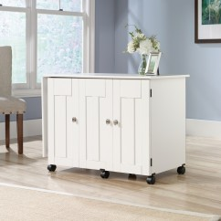 Sauder Sewing Table - Soft White
