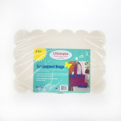 Bosal - Ultimate Double sided fusible - Scalloped Bags (4 pc)