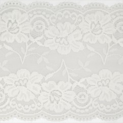 Stretch lace Trims - 6 inches - Off White