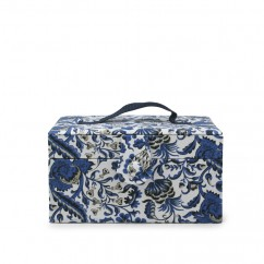 Decorative case small - Navy floral print