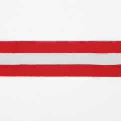 Elastic Belting - Stripes - White / Red