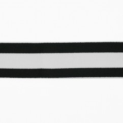 Elastic Belting - Stripes - White / Black 2