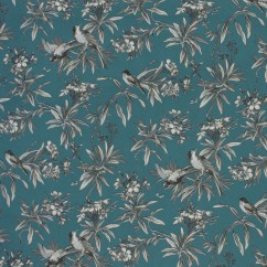 Home Decor Fabric - Global chic - Uccello Wide Width - Blue