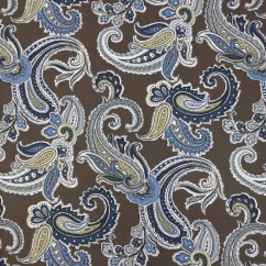 Home Decor Fabric - Robert Allen - Global paisley - Truffle