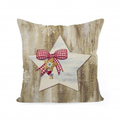 Decorative cushion cover - Tapestry - Star - 18 x 18''