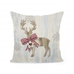 Decorative cushion cover - Tapestry - Deer - 18 x 18''