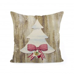 Decorative cushion cover - Tapestry - Christmas Tree - 18 x 18''