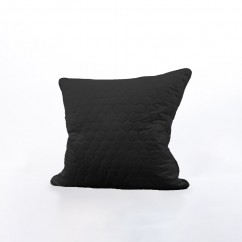 Decorative feather cushion - Luxe quilted - Black - 20 x 20''
