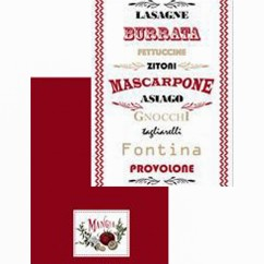 Kitchen Towels - Mangia - Red & white - 20x 28''