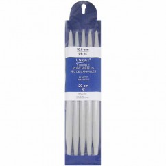 """UNIQUE KNITTING Double Point Knitting Needles 20cm (8"""") - Set of 5 Plastic - 10mm/US 15"""