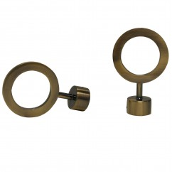 ANTIQUE BRASS CIRCLE FINIAL - for a 1'' (28mm) diameter rod