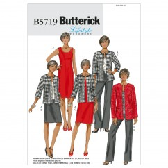 B5719 Misses'/Women's Jacket, Dress, Skirt and Pants (size: 8-10-12-14-16)