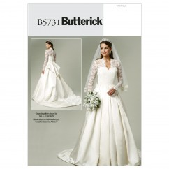 B5731 Misses' Dress (size: 6-8-10-12-14)
