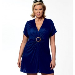 B5795 Women's Cover-Up, Top, Swimdress, Swimsuit, Skirt and Briefs (Size: 18W-20W-22W-24W)