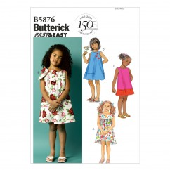 B5876 Toddlers'/Children's Dress (size: 1-2-3-4)