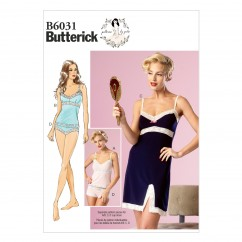 B6031 Misses' Camisole, Slip and Panties (size: 6-8-10-12-14)
