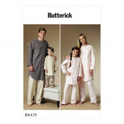 B6429 Misses'/Men's/Children's/Boys'/Girls' Buttoned Tunic and Pull-On Pants (Size: 3-4-5-6-7-8-10-12 (KIDS))