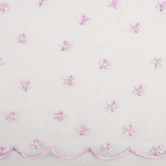 CHERIE Embroidered Mesh - Daisy - Lilac