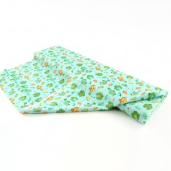 BABYVILLE BOUTIQUE WATERPROOF PUL FABRIC FROGS TURQUOISE 165CM (64 INCHES)