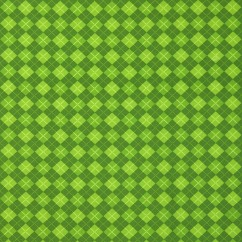 LUCKY ME St-Patrick printed Cotton - Argyle - green